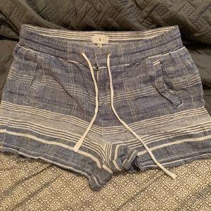 Lou & Grey Striped linen shorts
